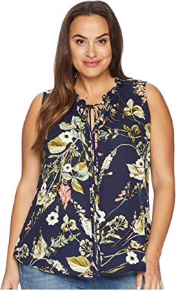Plus Size Dahlia Printed Blouse