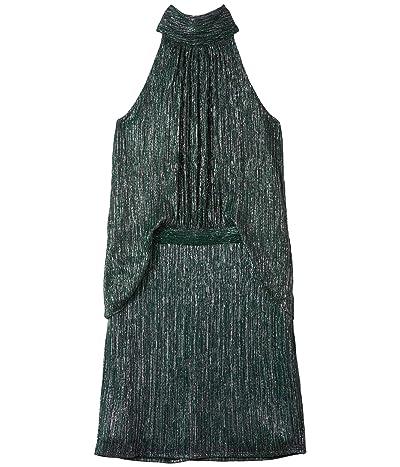 Halston Mock Neck Dress (Agave) Women