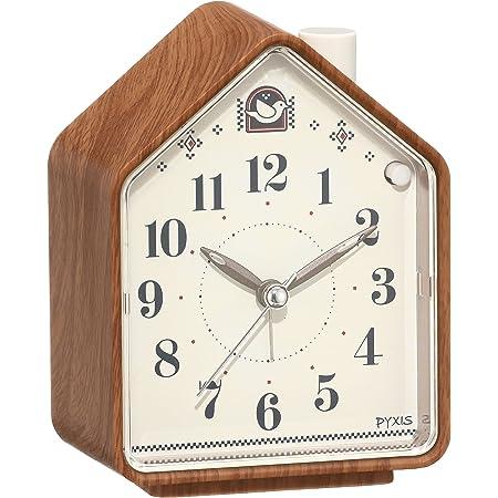 セイコー クロック 目覚まし時計 ネイチャーサウンド アナログ 切替式 アラーム PYXIS ピクシス 茶 木目 模様 NR444A SEIKO