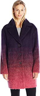Juicy Couture Womens WFWJ52539 Hw Wooly Ombre Coat Wool Coats - Purple