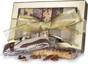 The Biscotti Factory, Combo Variety Pack, Biscotti Gift Box, Individually Wrapped Biscottis, Hand Crafted, Father's Day Gifts, Kosher Gift Baskets, Certified Kosher, No Added Preservatives (Classic)
