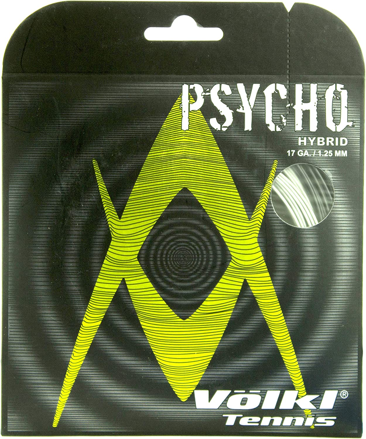 Charlotte Mall Volkl Psycho Hybrid 16G Tennis Direct sale of manufacturer and Black Silver String