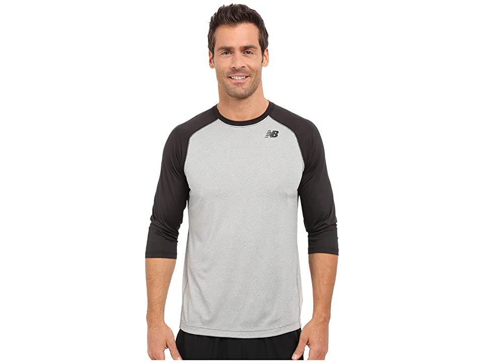 New Balance 3/4 Baseball Raglan (Team Black) Men