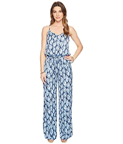 Lilly Pulitzer Dusk Jumpsuit (High Tide Navy Drop in Navy) Women