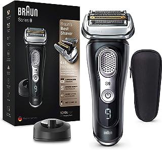 Braun Series 9 9340s - Afeitadora Eléctrica Hombre Última Generación, Afeitadora Barba Recargable, Inalámbrica, Base de Ca...