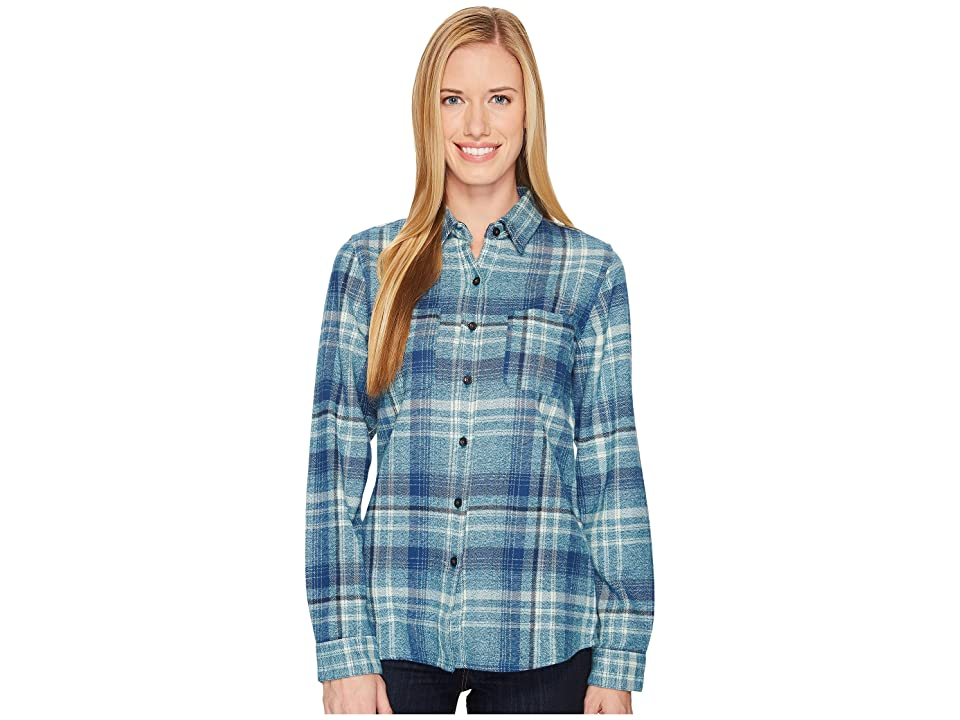 The North Face Long Sleeve Willow Creek Flannel (Egyptian Blue Plaid) Women
