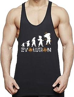 Evolution Son Goku Camiseta de Tirantes para Hombre Dragon Master Ball Vegeta Turtle Roshi