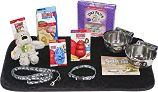 Puppy Starter Kit for Medium Dog Breeds, Kit Includes: Kong Classic Toys & Treats | Coastal Dog Leash & Collar | Midwest D...