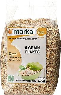 Organic 5 Grain Flakes by Markal ,500gm (Brown)
