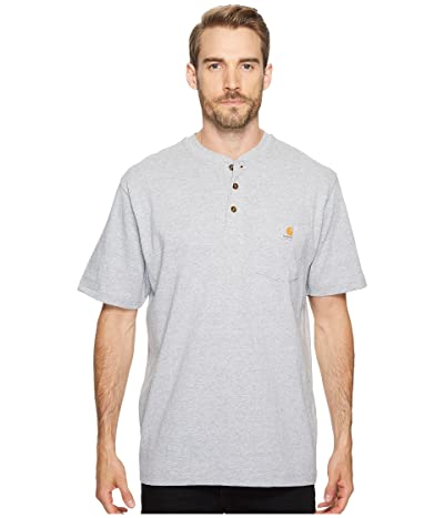 Carhartt Workwear Pocket S/S Henley (Heather Gray) Men