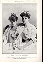 PRINT: 'The 'Langham Sisters''....photo from Harper's Weekly, May 3, 1902