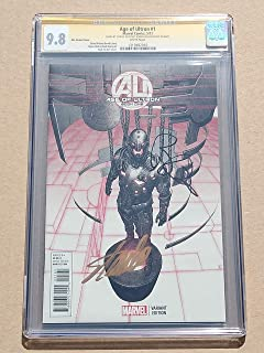 Age of Ultron #1 High Grade! CGC 9.8 Modren-age Collectible Comic Book Signed Stan Lee & Brian Michael Bendis! Kim Variant Cover