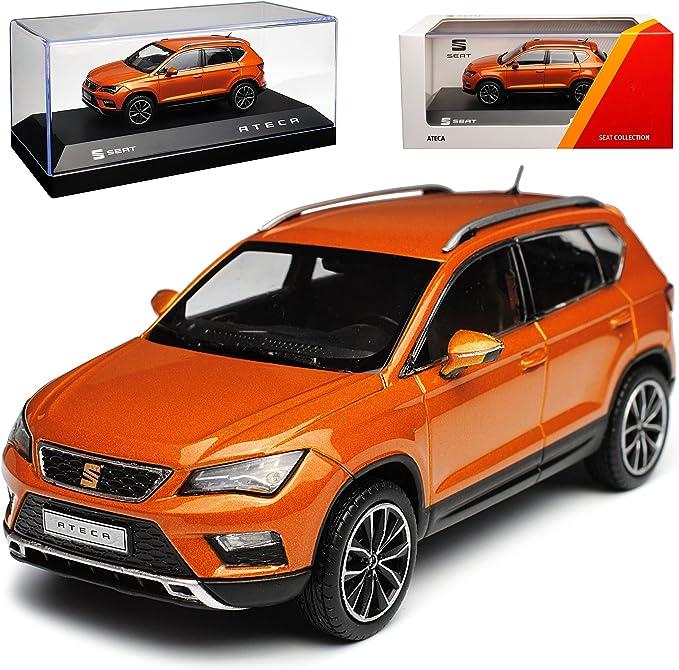 Premiumx Seat Ateca Suv Samoa Orange Ab 2016 1 43 Modell Auto Mit Individiuellem Wunschkennzeichen Spielzeug
