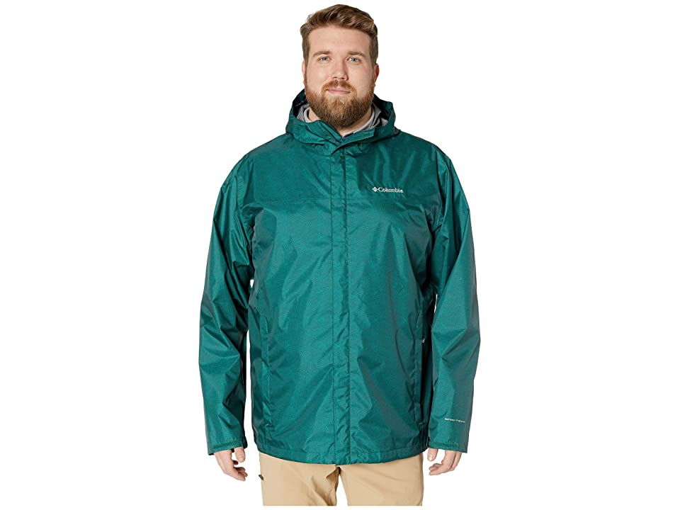 Columbia Big Tall Diablo Creek Rain Jacket (Pine Green Maze Print) Men