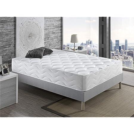 Colchón Manhattan 25 cm dDagostino Home – Colchón 25 cm, 135x190, Viscoelastico & Latex, Firmeza Alta, Reversible