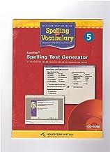 Houghton Mifflin Spelling and Vocabulary: Test Generator CD-ROM Grade 5