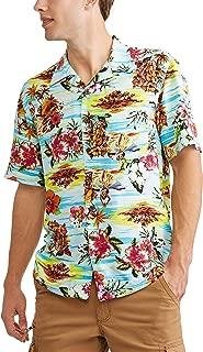 George Men's Tropical Button Down Short Sleeve Shirt