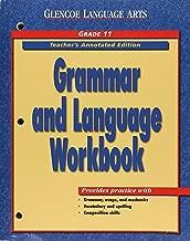 Grammar & Language Workbook, Grade 11, Teacher's Annotated Edition (Glencoe Literature)