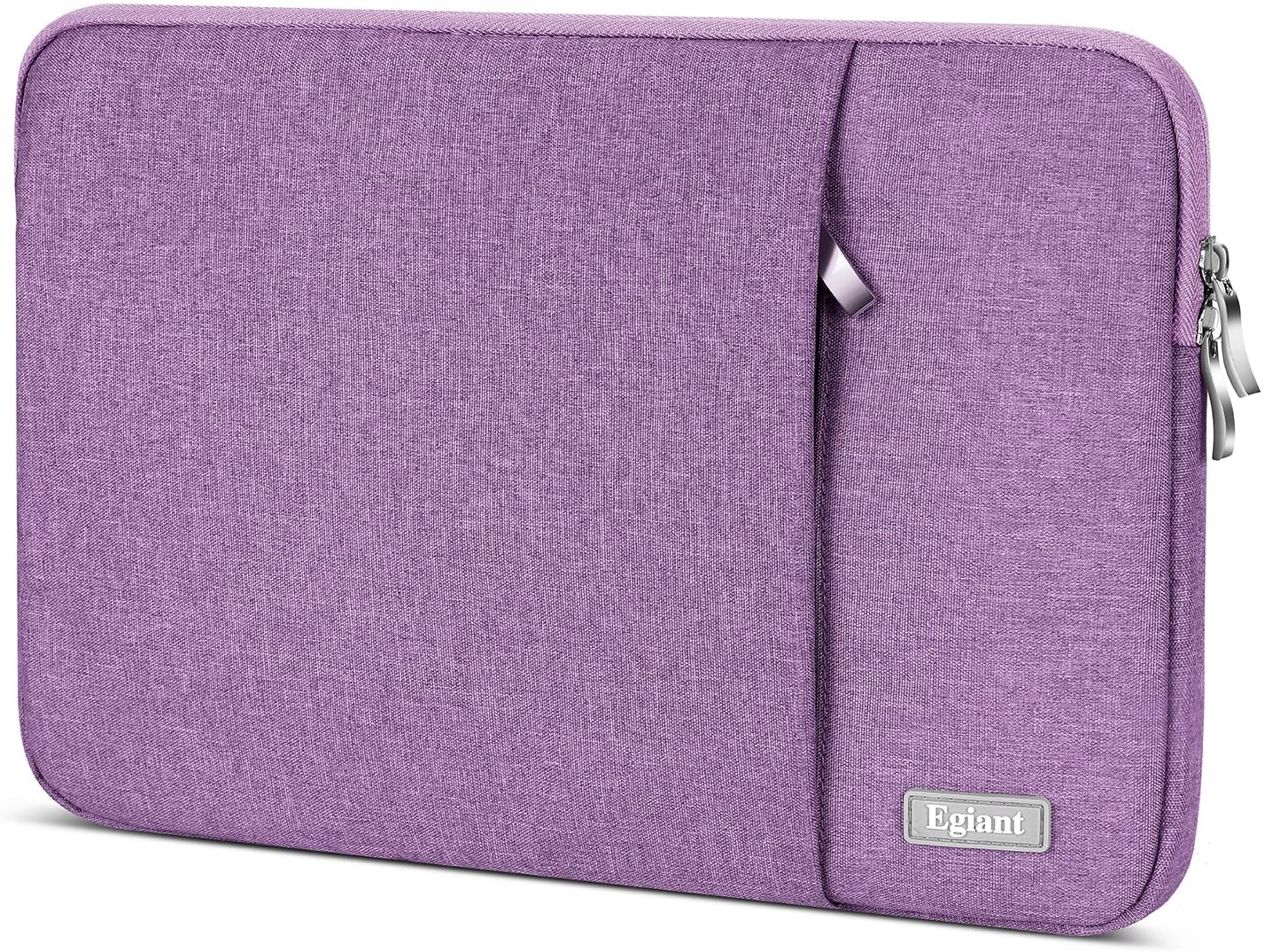 Laptop Sleeve Case 13.3 Inch,Egiant Water-Resistant Protective Fabric Bag Compatible Mac Pro 13 Retina,Mac Air 13,Surface Book,Stream 13,Chromebook 13,13-13.5 Inch Chromebook Computer Notebook,Purple