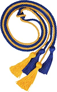 Double Graduation Honor Cords - Royal Blue and Gold,68