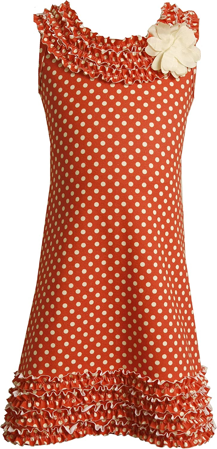 Bonnie Jean Big Girls' Knit Dress With Allover Printed Dots