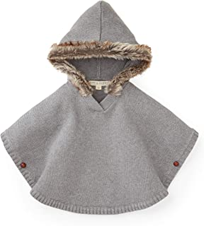 Sweater Cape with Faux Fur Hood