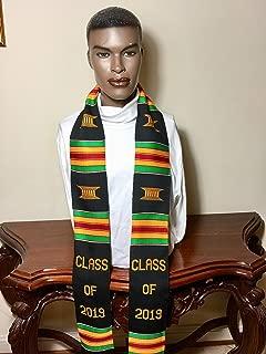 Class of 2019 Handwoven Kente Graduation Stole (Black & Gold)