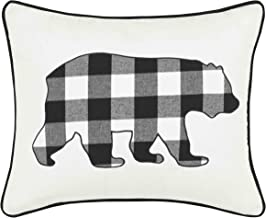Eddie Bauer Cabin Plaid Bear Throw Pillow, 16x20, Black