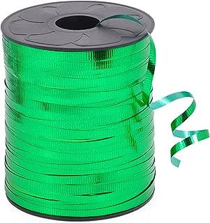 HIART Metallic Curling Ribbon, 3/16-Inch x 500-Yard, Metallic Green