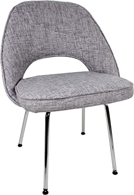 Control Brand Mid Century-Inspired Side Chair, Grey
