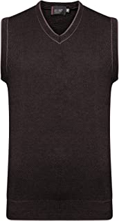 Style Spot New Mens Knitted Sleeveless V Neck Sweater | Wool Jumper Cardigan Golf Slip | Over Knitwear Pull Over Sweater T...