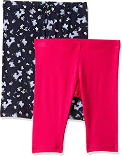 United Colors of Benetton Baby Girls' Regular Fit Shorts (Pack of 2)