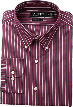 Slim Fit No-Iron Multi-Stripe Poplin Dress Shirt