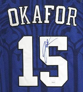 Jahlil Okafor Duke Blue Devils Signed Autographed Blue #15 Jersey JSA COA
