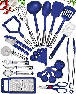 Home Hero Kitchen Utensil Set - 25 Nylon Cooking Utensils - Kitchen Utensils with Spatula - Kitchen Gadgets Cookware Set -...