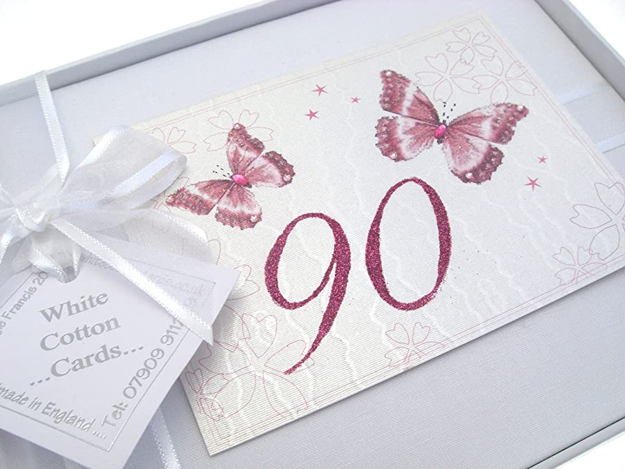 90th Birthday, Small Photo Album, Butterflies