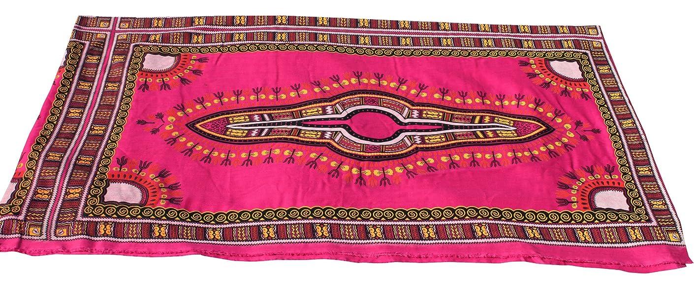 RaanPahMuang Light Gauze Two Layer Saloo Fabric Afrikan Dashiki Pattern 34x21.5