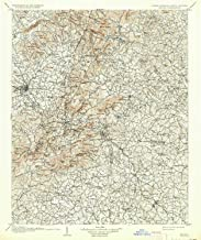 YellowMaps Saluda NC topo map, 1:125000 Scale, 30 X 30 Minute, Historical, 1907, Updated 1934, 19.6 x 16.4 in