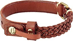 Fossil - Braided and Smooth Adjustable Leather Bracelet