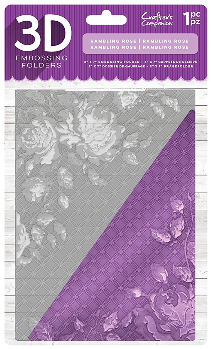 Die'sire EF5-3D-RROSE 3D Embossing Folder, Clear