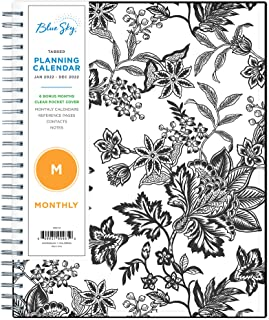 """Sponsored Ad - Blue Sky 2022 Monthly Planner, January 2022 - December 2022, 8"""" x 10"""", Flexible Cover, Wirebound, Analeis (..."""