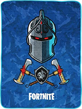 Jay Franco Black Knight Blue Camo Throw Blanket (Official Fortnite Product)
