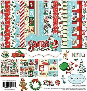 Carta Bella Paper Company CBSW90016 Santa's Workshop Collection Kit Paper, red, Green, Black, Blue