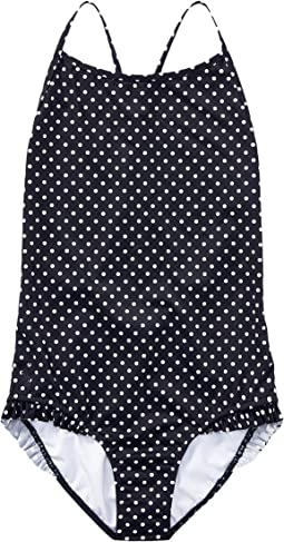 Polo Ralph Lauren Kids - Polka Dot One-Piece Swimsuit (Little Kids/Big Kids)