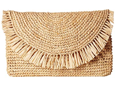 Hat Attack Sunburst Clutch (Natural) Clutch Handbags
