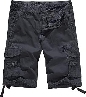 WenVen Men's Cotton Twill Cargo Shorts Outdoor Wear(Regular & Big-Tall Sizes)