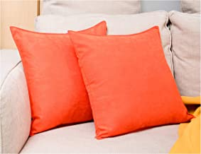 Zealax 2-Pack Cushion Covers Comfortable Faux Suede Decorative Throw Pillow Covers Pillowcases, Polyester & Polyester Blen...