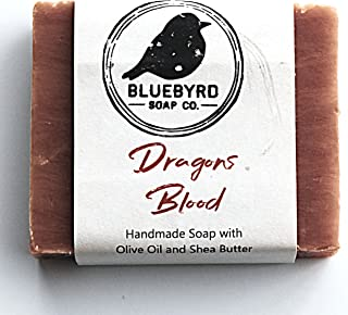 Bluebyrd Soap Co. Dragons Blood All Natural Soap Bar   Essential Oil Face and Body Bar Soap   Herbal Body Cleanser Bar   A...