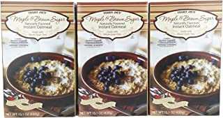 Trader Joe's Maple & Brown Sugar Naturally Flavored Instant Oatmeal (3 Pack)