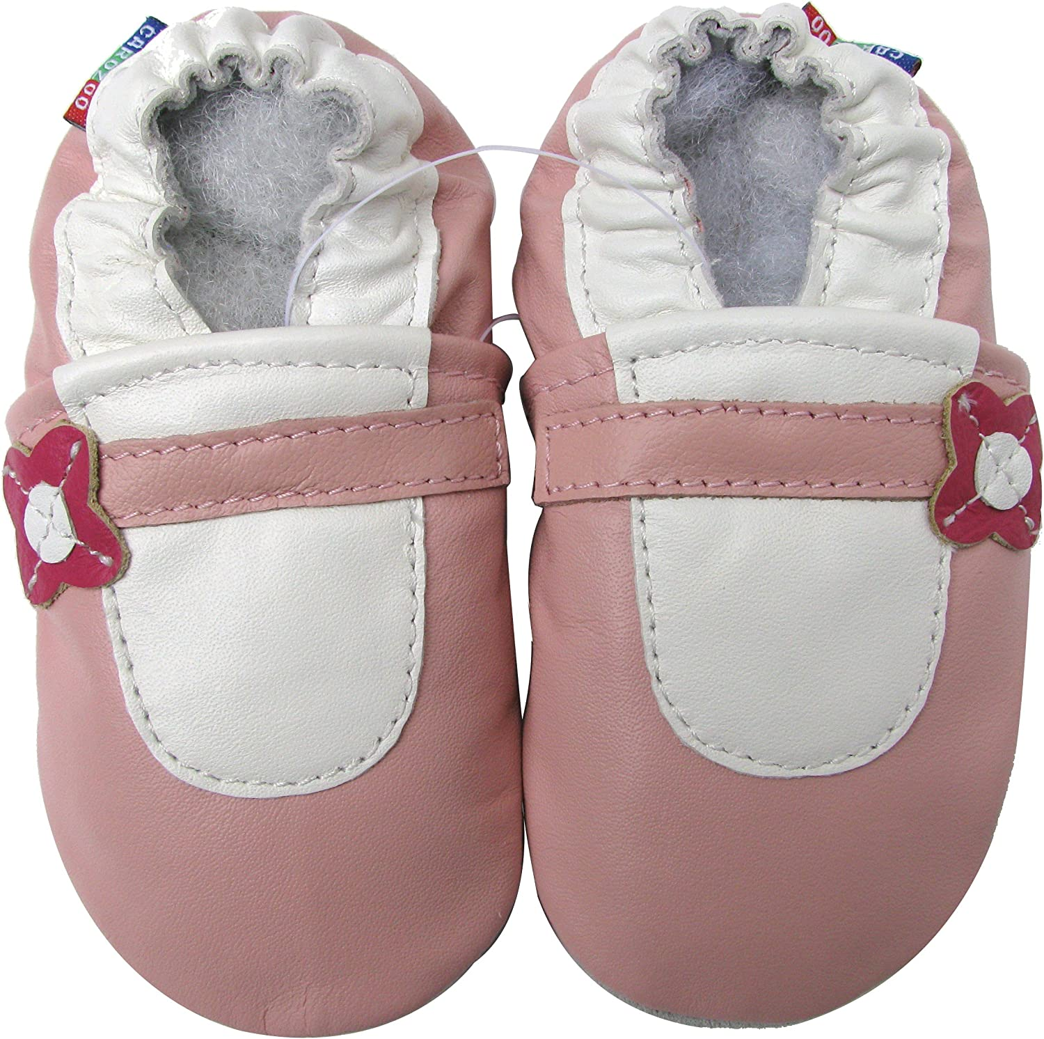 Carozoo Mary Jane Baby Girl Soft Sole Leather Shoes Slippers